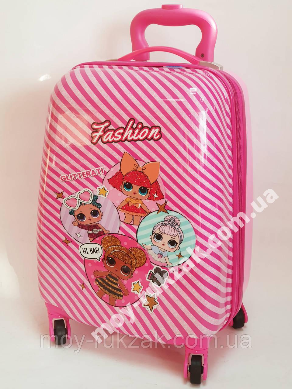 Детский чемодан дорожный на колесах «Куклы ЛОЛ» LOL-3