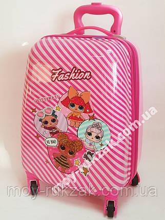 Детский чемодан дорожный на колесах «Куклы ЛОЛ» LOL-3, фото 2