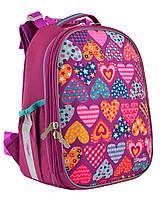 """Рюкзак шкільний, каркасний H-25 """"Heart puzzle""""                                            , фото 1"""