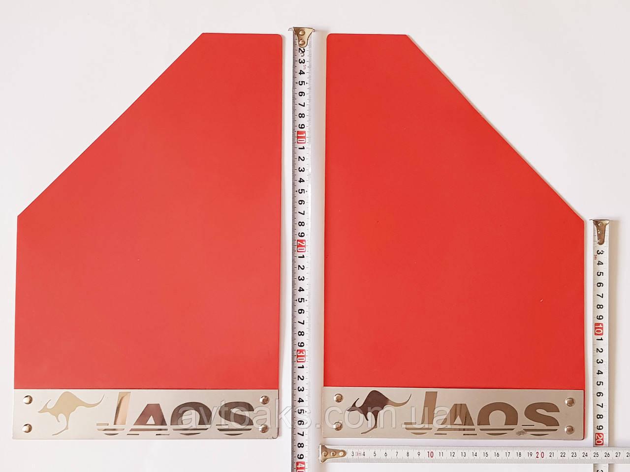 Брызговик тюнинговый, пластиковый, цветной, 370х240 мм. с пластиной