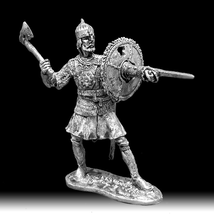 Воин с тарчем, XVI век