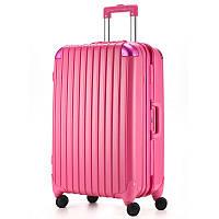 Великий чемодан Ambassador Hardcase A8524 Малиновий