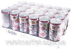 Упаковка безалкогольного напою Kofola grep (грейпфрут) 0.25 л x 24 шт