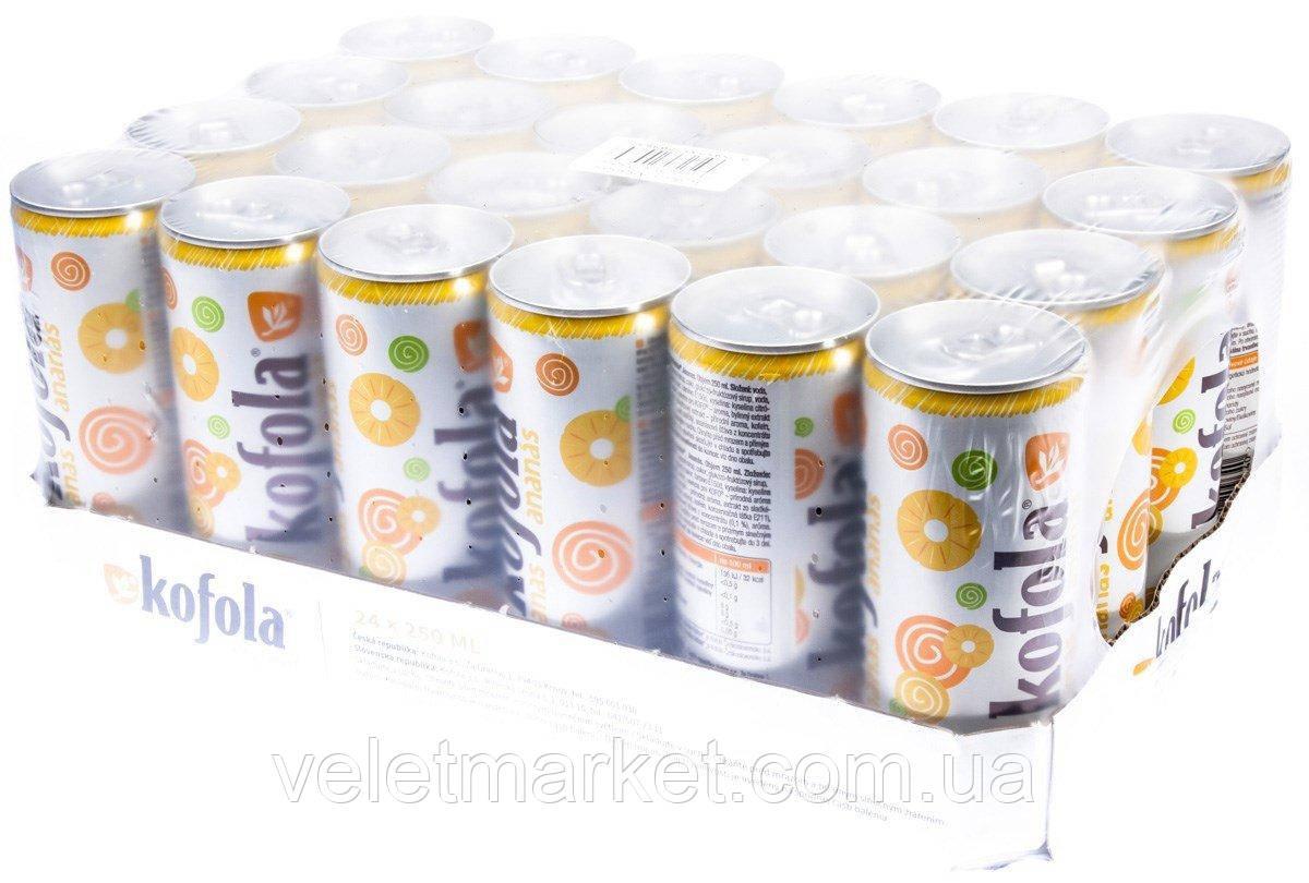 Упаковка безалкогольного напитка Kofola Ananas 0.25 л x 24 шт