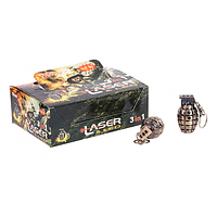 Брелок-фонарик YT-810 граната (лазер)