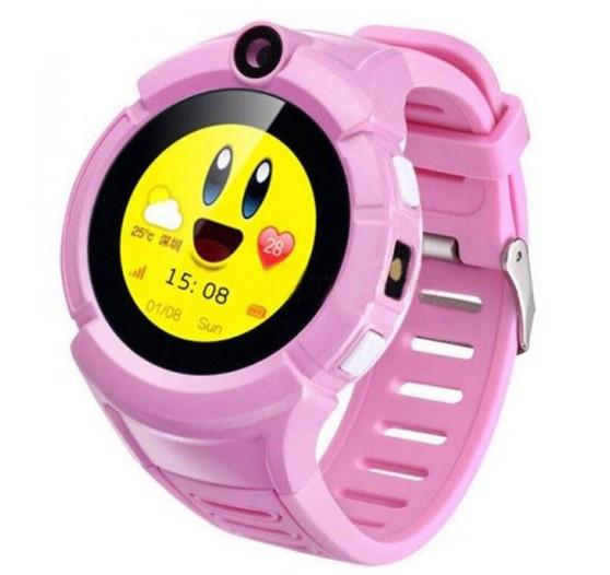 Детские Умные часы с GPS Q360 розовые