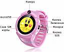 Детские Умные часы с GPS Q360 розовые, фото 4