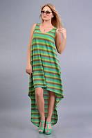 Женское платье с имитацией мелкой вязки