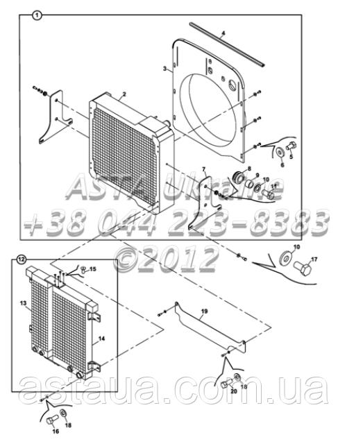 Радиатор - масляный радиатор и фитинги Н1-1-1