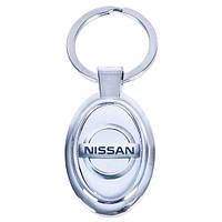 Брелок металлический с силиконовой наклейкой NISSAN (Металл силик.)