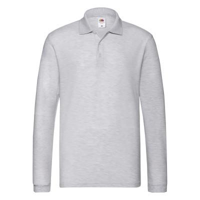 9c00ad408e66 Цена на Светло-серое однотонное мужское рубашка-поло с длинным рукавом в  интернет ...