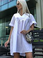 Платье летнее коттон С, М, Л белое, фото 1