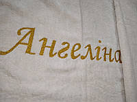 """Именная крыжма махровая модель """"Ангелина""""(крестильное покрывало) вышивка, дизайн."""