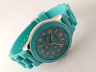 Женские часы GENEVA - бирюзовые на силиконовом ремешке