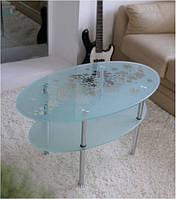 Журнальный стол Maxi Lt o 920/540 (2) матовый с рисунком