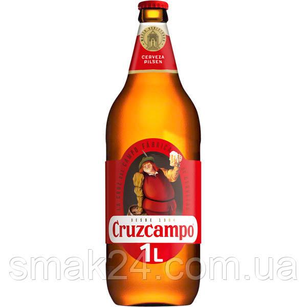 Пиво светлое  Cruzcampo 4.8% 1л Испания