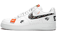 """Кроссовки Air Force 1 07 Just Do It Pack """"White"""" Арт. 3805"""