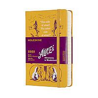 Ежедневник Moleskine 2020 Датированный Alice Карманный 400 страниц Желтый (9х14 см) (8058647628660), фото 1
