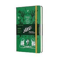 Ежедневник Moleskine 2020 Датированный Alice Средний 400 страниц Зеленый (13х21 см) (8058647628677), фото 1