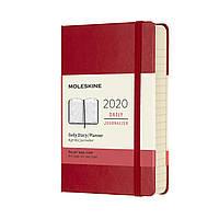 Ежедневник Moleskine 2020 Датированный Карманный 400 страниц Красный (9х14 см) (8058647628738), фото 1