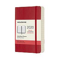 Ежедневник Moleskine 2020 Датированный Карманный 400 страниц Красный Мягкий (9х14 см) (8058647628790), фото 1
