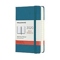 Ежедневник Moleskine 2020 Датированный Карманный Магнетический Зеленый (9х14 см) (8058647628318), фото 1