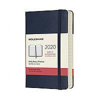 Ежедневник Moleskine 2020 Датированный Карманный 400 страниц Сапфир (9х14 см) (8058647628752), фото 1