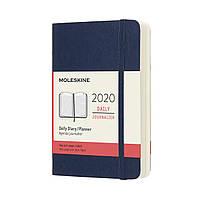 Щоденник Moleskine 2020 Датований Кишеньковий 400 сторінок Сапфір М'який (9х14 см) (8058647628813)
