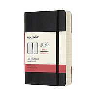 Щоденник Moleskine 2020 Датований Кишеньковий 400 сторінок Чорний М'який (9х14 см) (8058647628776)