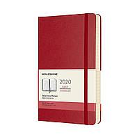 Ежедневник Moleskine 2020 Датированный Средний 400 страниц Красный (13х21 см) (8058647628745), фото 1