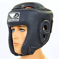 Шлем боксерский открытый с усиленной защитой макушки кожаный BAD BOY VL-6626, фото 1