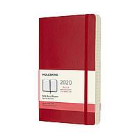 Щоденник Moleskine 2020 Датований Середній 400 сторінок Червоний М'який (13х21 см) (8058647628806)