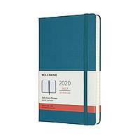 Ежедневник Moleskine 2020 Датированный Средний 400 страниц Магнетический Зеленый (13х21 см) (8058647628349), фото 1