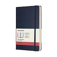 Ежедневник Moleskine 2020 Датированный Средний 400 страниц Сапфир (13х21 см) (8058647628769), фото 1