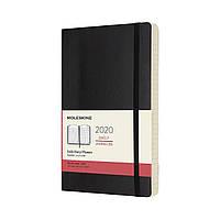 Ежедневник Moleskine 2020 Датированный Средний 400 страниц Черный Мягкий (13х21 см) (8058647628783), фото 1