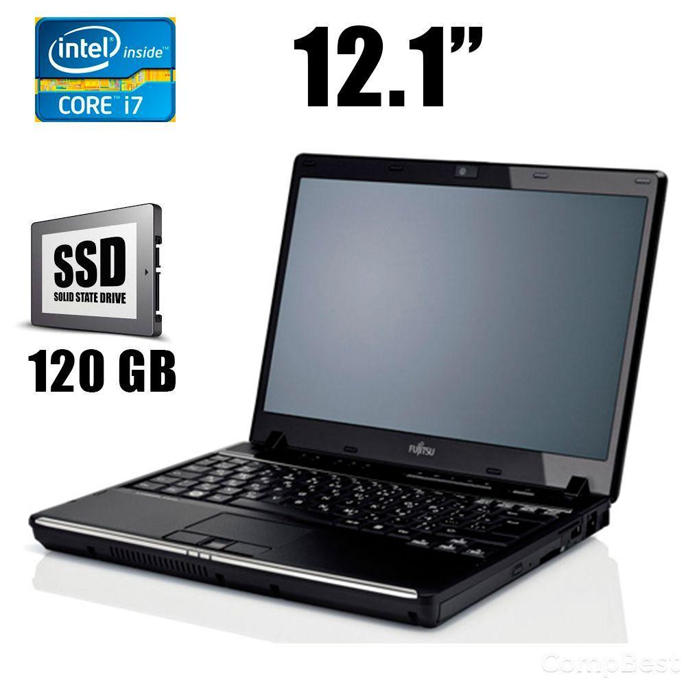 """Fujitsu Lifebook P770 / 12.1"""" / Intel Core i7-U660 (2(4)ядра по 1.33 - 2.4GHz) / 4GB DDR3 / 120GB SSD / DVD-RW / VGA, HDMI, Webcam"""
