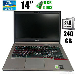 "Fujitsu LifeBook E744 / 14"" (1600x900) / Intel Core i7-4702MQ (4(8)ядра по 2.2 - 3.2GHz) / 8GB DDR3 / new! 240GB SSD / VGA, DP, USB 3.0, WebCam, фото 2"