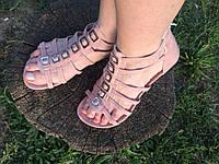 Босоножки р37 нежного цвета пудра (маломерят на размер)