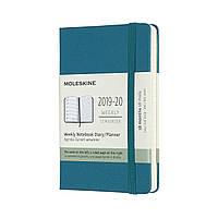 Еженедельник Moleskine 2019-2020 Датированный Карманный 208 страниц Магнетический Зеленый (9х14 см) (8058647628479), фото 1