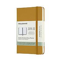 Тижневик Moleskine 2019-2020 Датований Кишеньковий 208 сторінок Стиглий Жовтий (9х14 см) (8058647628455)