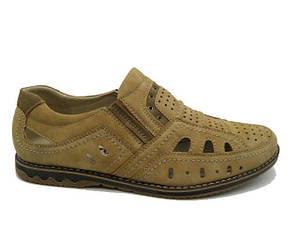 Туфлі чоловічі Jiaozu 158-096 бежевий * 21019
