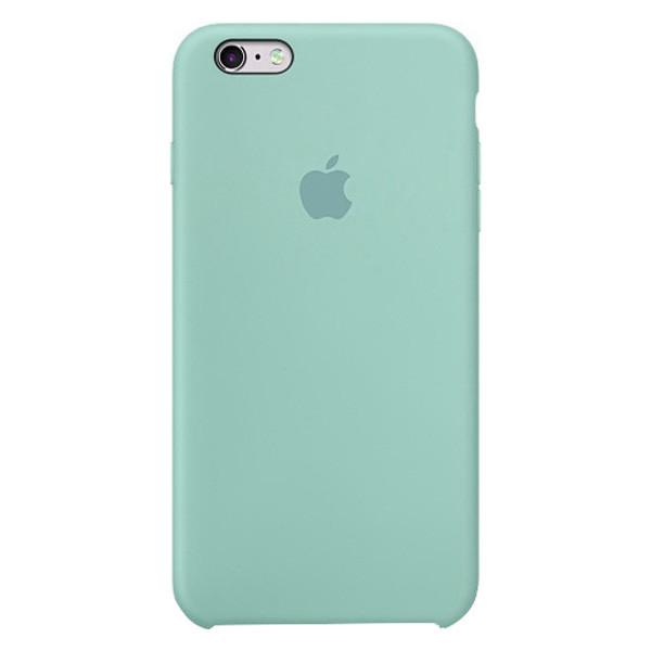Силиконовый чехол накладка Silicone Case для Apple iPhone 6S Мятный (Mint)