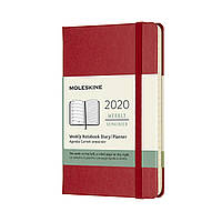 Тижневик Moleskine 2020 Датований Кишеньковий 144 сторінки Червоний (9х14 см) (8058647628875)