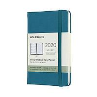 Еженедельник Moleskine 2020 Датированный Карманный 144 страницы Магнетический Зеленый (9х14 см) (8058647628370), фото 1