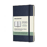 Тижневик Moleskine 2020 Датований Кишеньковий 144 сторінки Сапфір (9х14 см) (8058647628899)