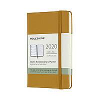 Еженедельник Moleskine 2020 Датированный Карманный 144 страницы Спелый Желтый (9х14 см) (8058647628356), фото 1