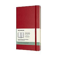 Еженедельник Moleskine 2020 Датированный Средний 144 страницы Красный (13х21 см) (8058647628882), фото 1
