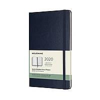 Еженедельник Moleskine 2020 Датированный Средний 144 страницы Сапфир (13х21 см) (8058647628905), фото 1