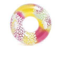 Надувной круг Intex 58263, с ручками, 97 см, желтый