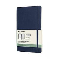 Тижневик Moleskine 2020 Датований Середній 144 сторінки Сапфір М'який (13х21 см) (8058647629223)